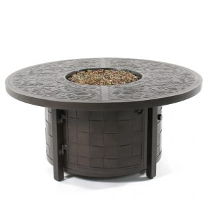 """50"""" round coffee table with fire pit"""