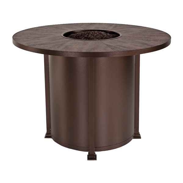 """54"""" round counter height Santorini fire pit from OW Lee"""