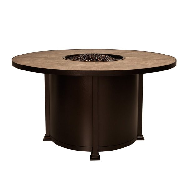 """OW Lee 54"""" round dining height Santorini fire pit"""