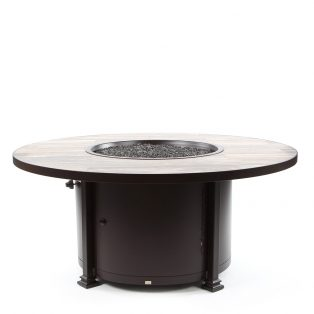 "54"" round chat height Santorini fire pit - Venice Beach top"