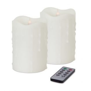 Simplux LED dripping candle with moving flame (Set of 2)
