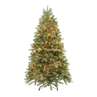 6.5' Alaskan pine artificial Christmas tree - clear lights
