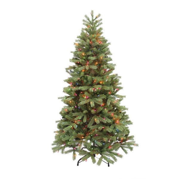 6.5' Alaskan pine artificial Christmas tree - multi colored lights