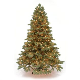8' Northwest down-swept artificial Christmas tree - clear lights
