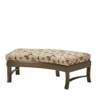 "Ravello crescent ottoman bench 49"" x 26"""