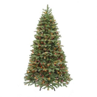 7.5' Alaskan pine artificial Christmas tree - multi colored lights