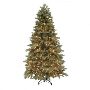 7.5' Northwest slim one plug artificial Christmas tree - clear lights