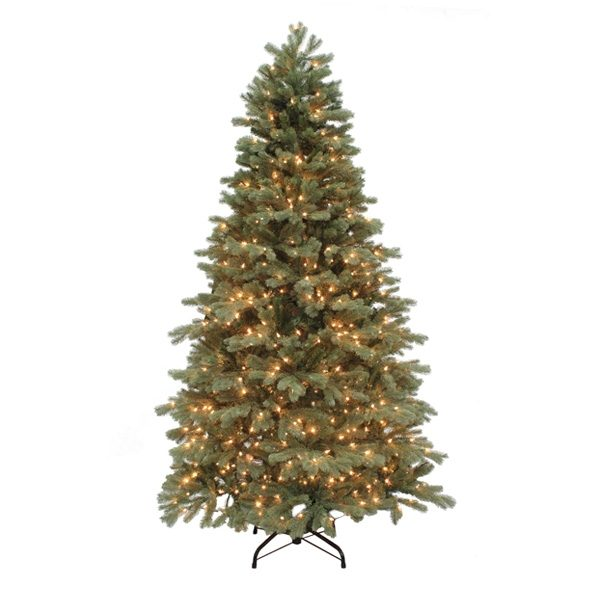 7.5' Northwest slim one plug artificial Christmas tree - clear lights