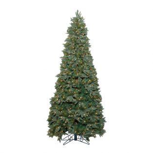 7.5' Stone hill slim one plug artificial Christmas tree - clear lights
