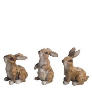 Rabbit figurines (set of 6)