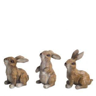 Rabbit figurines (set of 6)