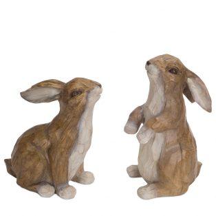 Rabbit figurines (set of 2)
