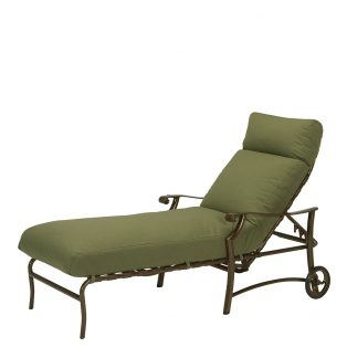 Tropitone Montreux outdoor aluminum chaise lounge with wheels