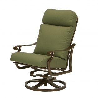 Tropitone Montreux high back outdoor aluminum swivel rocker