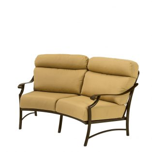 Tropitone Montreux II cushion crescent love seat