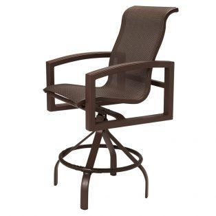 Lakeside sling swivel bar stool