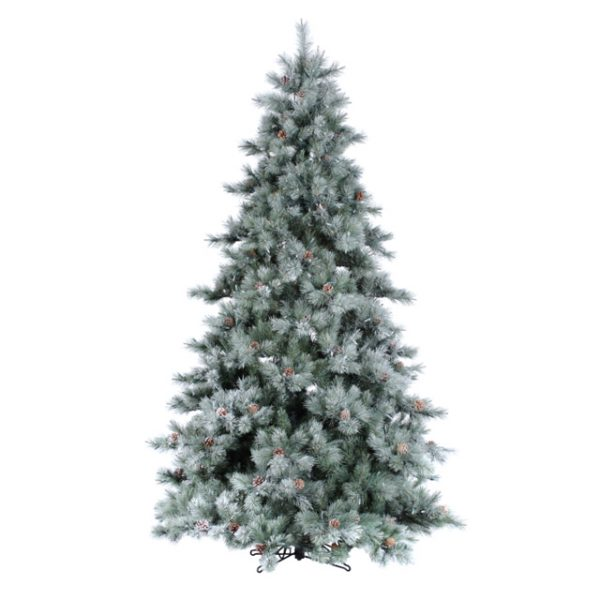 4.5' Iced aspen artificial Christmas tree - clear lights
