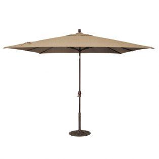 8' x 10' Market umbrella - Sesame Linen