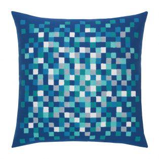 "Elaine Smith 22"" designer throw pillow - Cobalt Pixel"