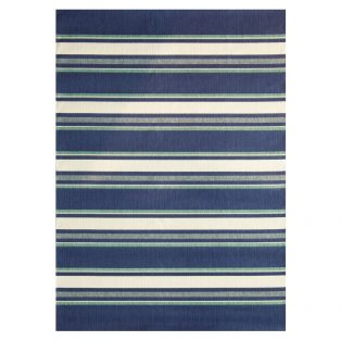 7' x 10' Hampton Bay Blue outdoor area rug from Treasure Garden