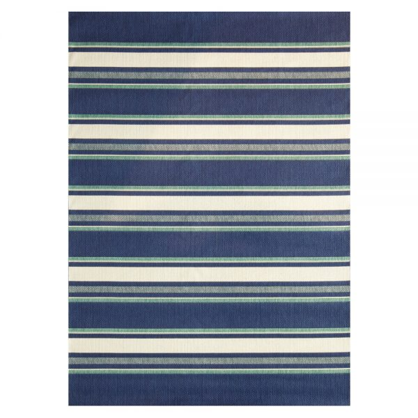 7' x 10' Hampton Bay Blue outdoor area rug from Treasure Garden