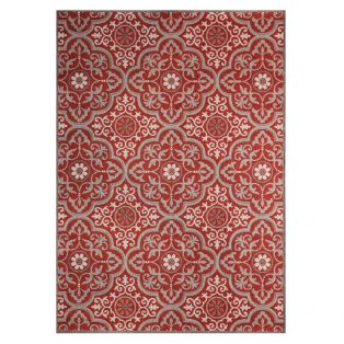 "Mosaic Red 7'10"" x 10' outdoor area rug from Treasure Garden"