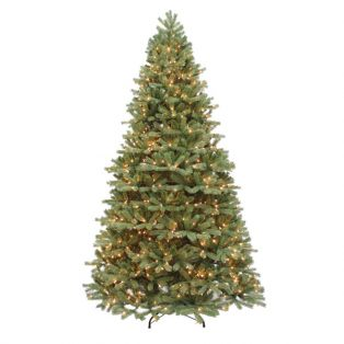 9' Alaskan pine one plug artificial Christmas tree with clear lights