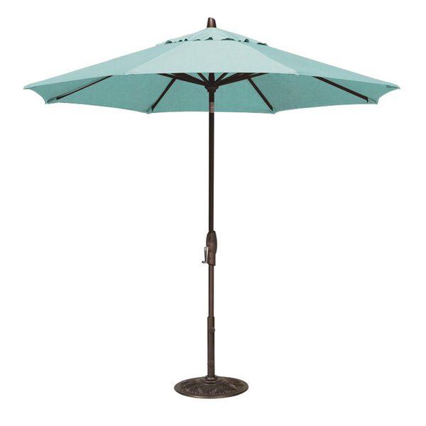 9' Market umbrella with auto tilt - Aruba