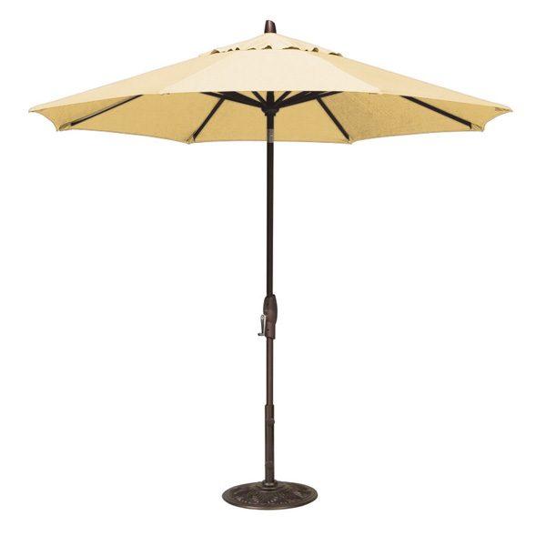 9' Market umbrella with auto tilt - Buttercup
