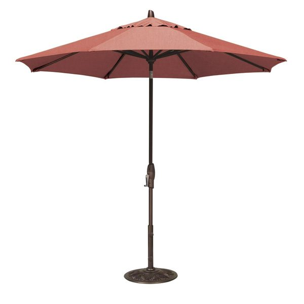 9' Market umbrella with auto tilt - Henna