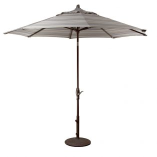 9' Market umbrella with auto tilt - Milano Char