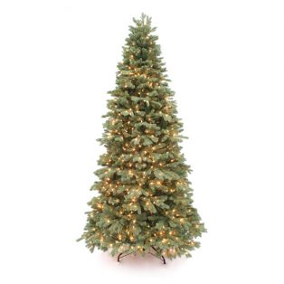 9' Northwest slim one plug artificial christmas tree - clear lights
