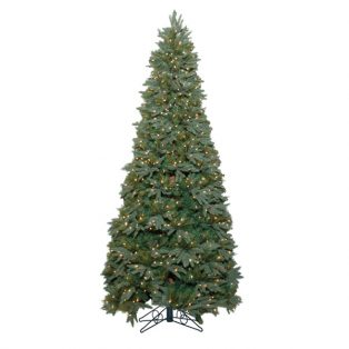 9' Stone Hill slim one plug artificial Christmas tree with clear lights