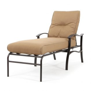 Albany chaise lounge with Spectrum Caribou cushions