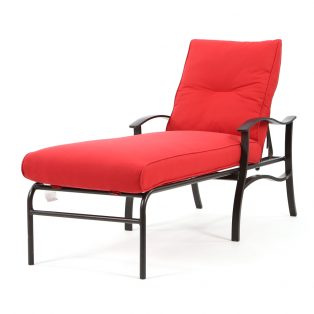Albany outdoor chaise lounge with Flagship Ruby cushions