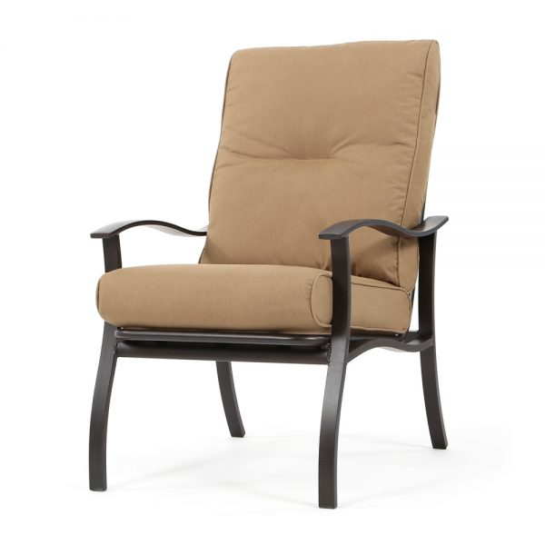 Albany outdoor dining chair with Spectrum Caribou cushions