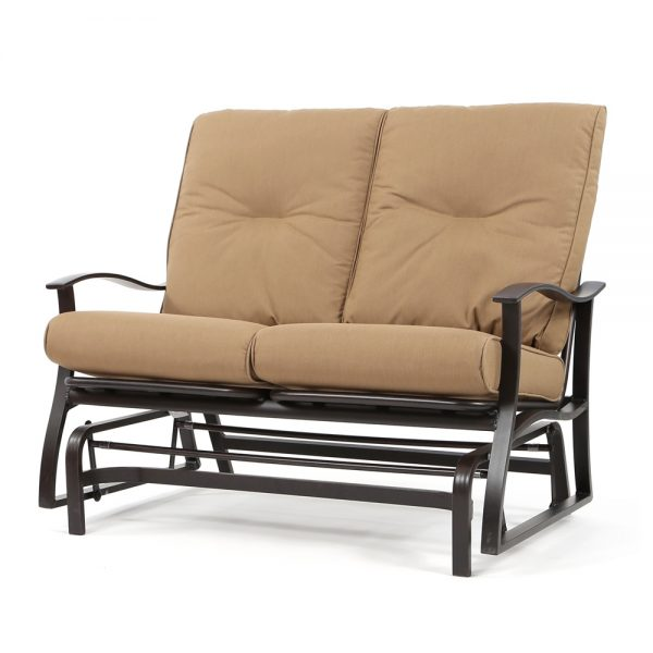 Albany double glider with Spectrum Caribou cushions