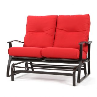 Albany aluminum double glider with Flagship Ruby cushions