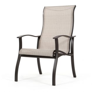 Albany sling high back outdoor dining chair