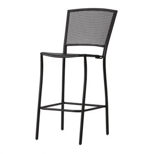 Albion stationary barstool with Textured Black finish