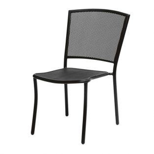 Albion dining side chair with Textured Black finish