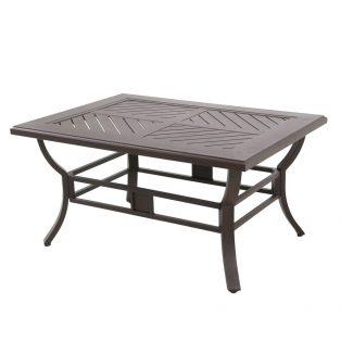 "Allegro 44"" x 32"" rectangular slat top patio coffee table"