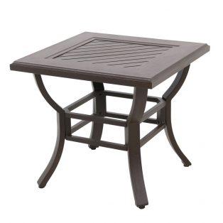 """Allegro 24"""" square aluminum end table"""