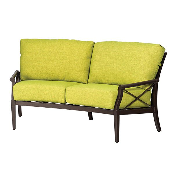 Andover outdoor curved loveseat