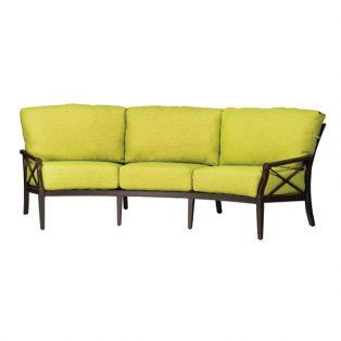 Andover aluminum crescent sofa