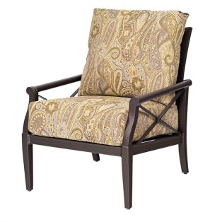 Andover club chair with floral cushions