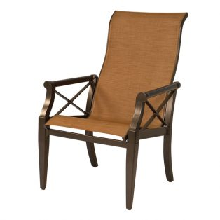Andover sling high back dining arm chair