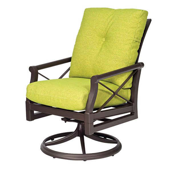 Andover outdoor swivel rocker dining chair