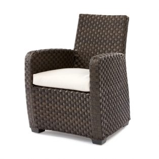 Leeward wicker dining arm chair