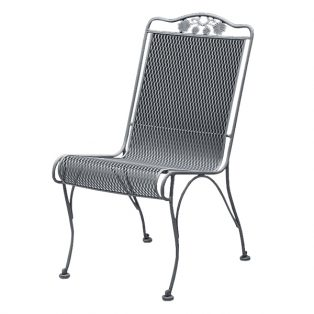 Briarwood armless high back wrought iron dining chair
